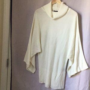 100%   Acrylic Kimono Sleeve Sweater Tunic
